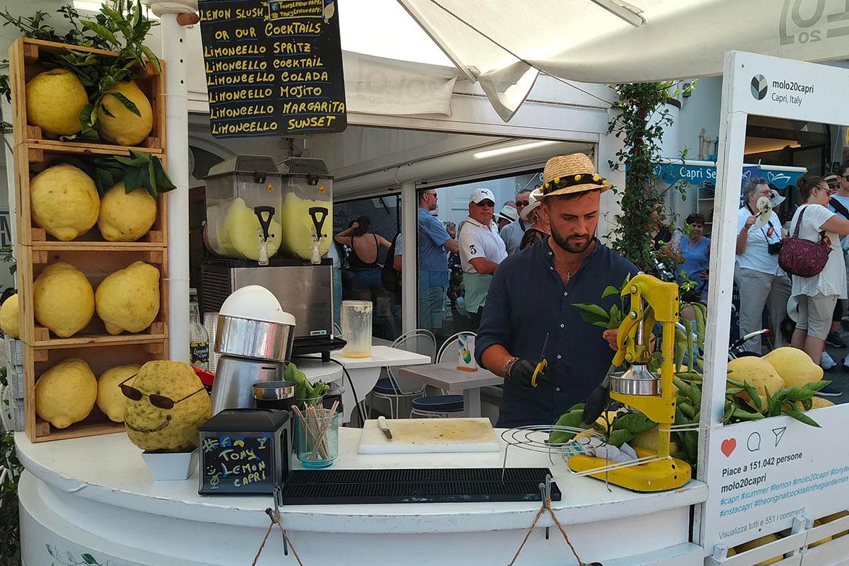 Capri: cocktail nei cedri di Tony Lemon